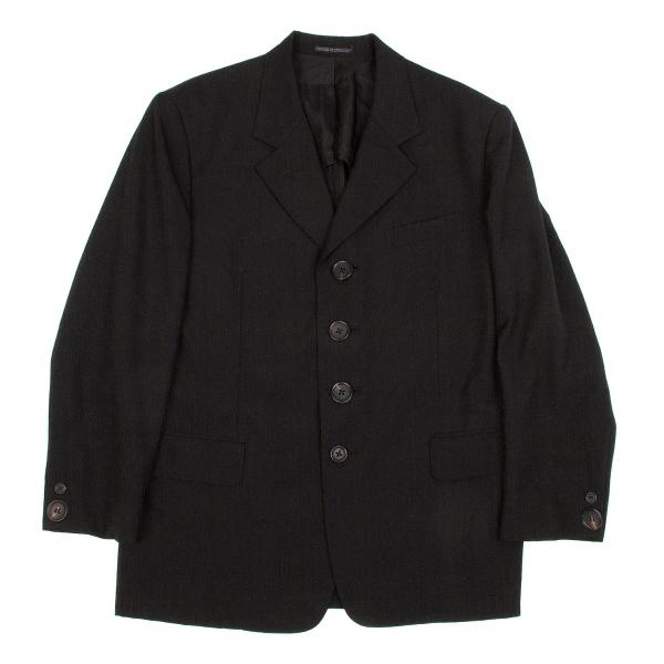 ヨウジヤマモト プールオムYohji Yamamoto POUR HOMME デカボタンウールジャケット 黒M【中古】 【メンズ】