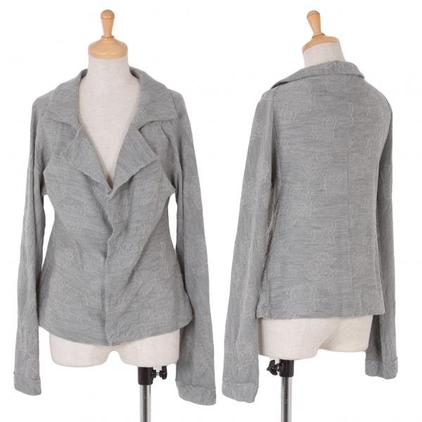 ワイズY's ウール変わり織りニットジャケット グレー2【中古】