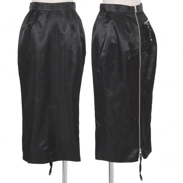 ジャンポールゴルチエファムJean Paul GAULTIER FEMME サテンバックジップスカート 黒40【中古】