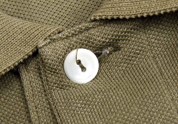 junyawatanabemankomudegyaruson×拉科斯特JUNYA WATANABE MAN COMME des GARCONS×LACOSTE产品染色小鹿反转设计开领短袖衬衫黄褐色S