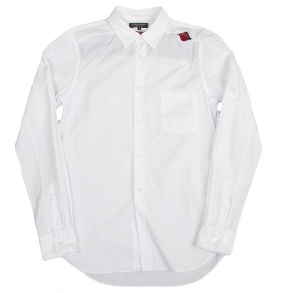 コムデギャルソンオムプリュスCOMME des GARCONS HOMME PLUS タータンチェックスリットデザインシャツ 白赤他XS【中古】