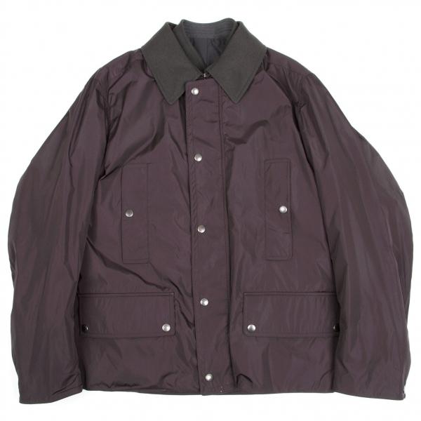 ルイヴィトンLouis Vuitton ナイロンブルゾンレイヤードオフィサージャケット 紫チャコール50【中古】 【メンズ】