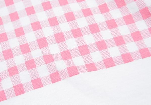 SALE コムデギャルソンCOMME des GARCONS ギンガムペイントカットソー ピンク白M位レディース8wPkOn0