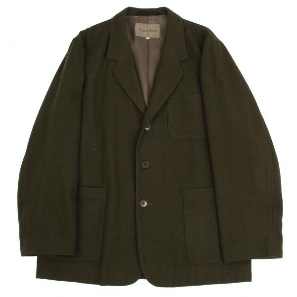 ワイズフォーメンY's for men ウール起毛パッチポケットジャケット カーキ3【中古】 【メンズ】