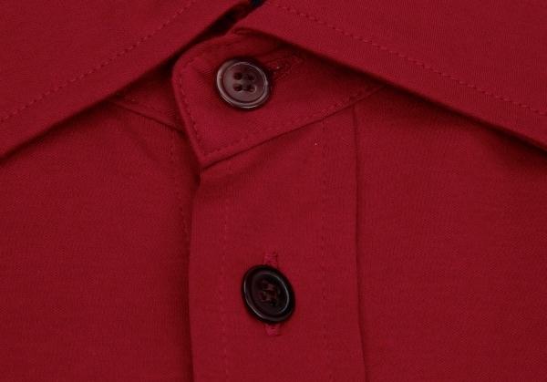yojiyamamotokosuchumudoomu YOHJI YAMAMOTO COSTUME D'HOMME INDUSTYLE TOKYO流體裁斷+流體縫助棉布印度襯衫紅3