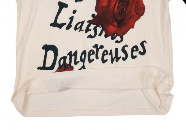 新货!yojiyamamotopuruomu Yohji Yamamoto POUR HOMME'Les Liasons Dangereuses'玫瑰印刷大的T恤形成3