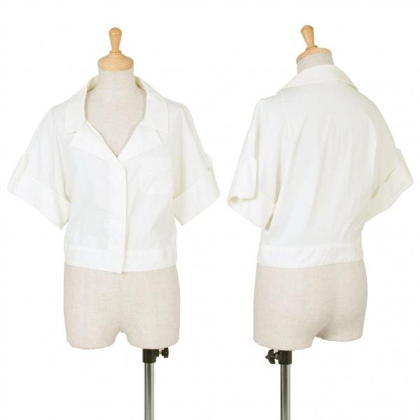 【SALE】プラダPRADA ショート丈比翼シャツジャケット 白40【中古】 【レディース】