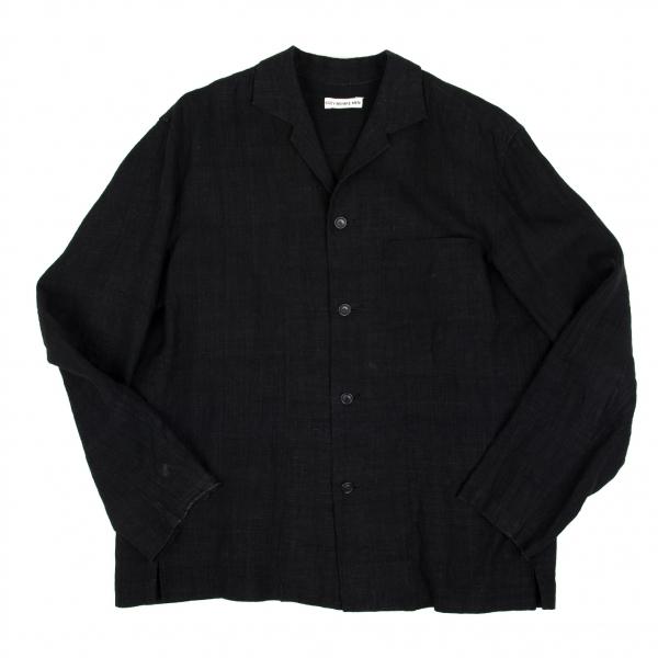 イッセイミヤケメンISSEY MIYAKE MEN きびら製品洗いシャツジャケット 黒3【中古】