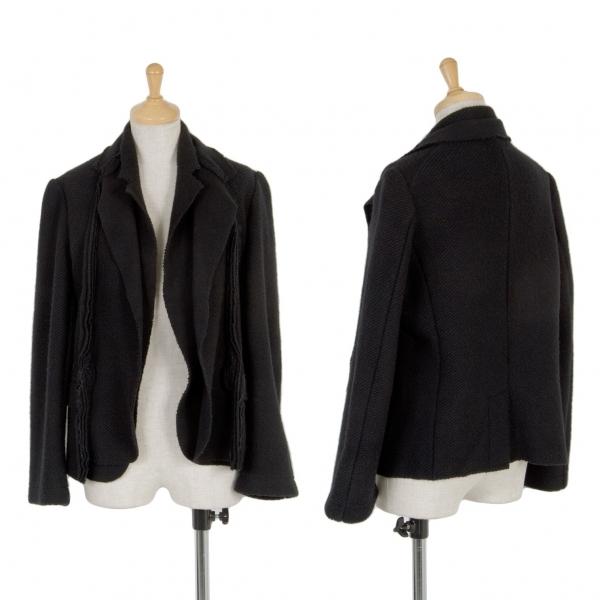 トリコ コムデギャルソンtricot COMME des GARCONS 重ねデザインウールニットジャケット 黒M位【中古】