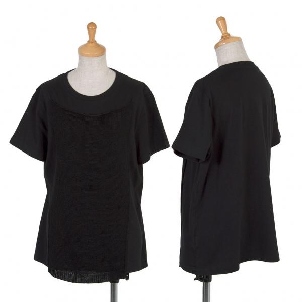 リスマット バイ ワイズRISMAT by Y's ニットペーストデザインTシャツ 黒2【中古】