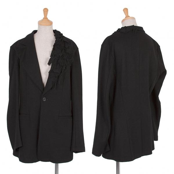 ヨウジヤマモト ファムYohji Yamamoto FEMME 装飾ウールフェルトジャケット 黒2【中古】