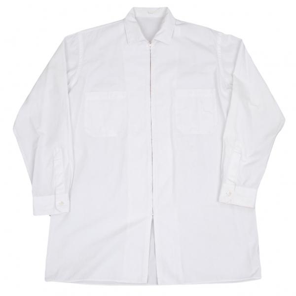 ワイズフォーメンY's for men ジップアップシャツ 白M位【中古】