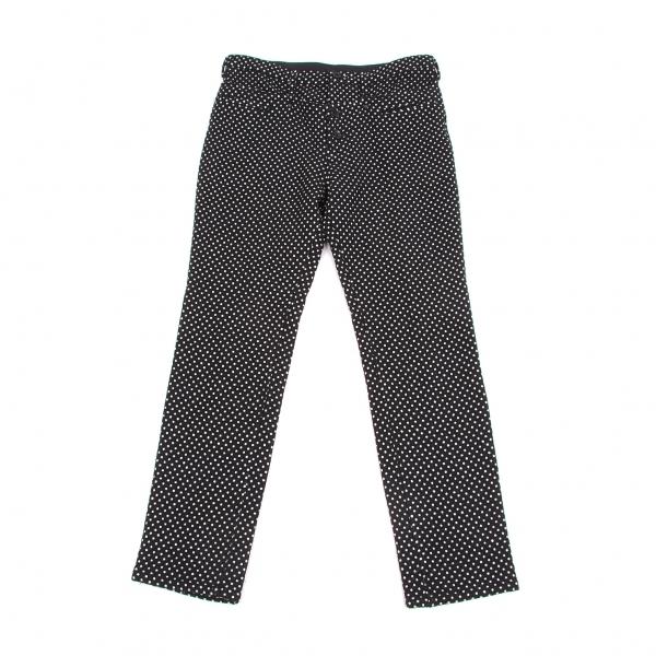 ワイズY's ドット柄織りダブルウエストパンツ 黒白2【中古】