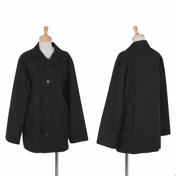 【SALE】ワイズY's コットンキャンバスジャケット 黒S位【中古】 【レディース】