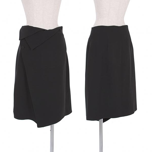 ジョルジオ アルマーニGIORGIO ARMANI シルク巻きスカート 黒46【中古】 【レディース】