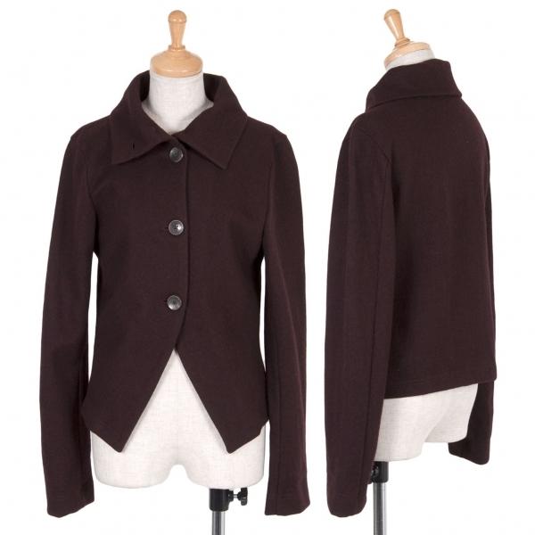 ワイズY's ウールシャツジャケット ワイン2【中古】