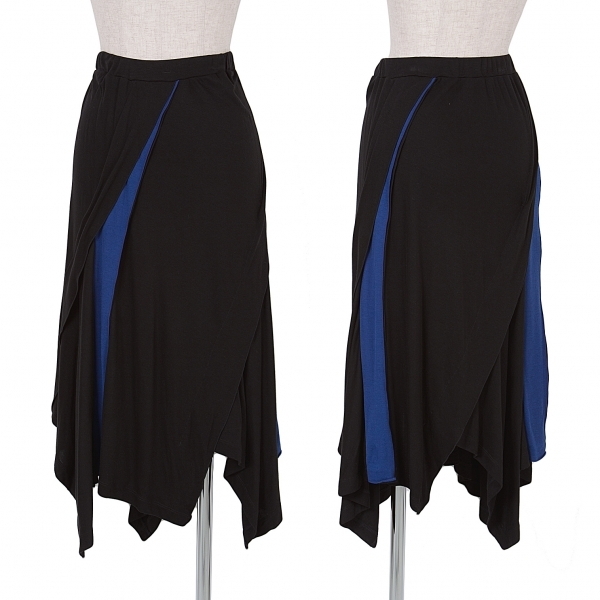 【SALE】イッセイミヤケISSEY MIYAKE 切換バイカラースカート 黒青2【中古】 【レディース】