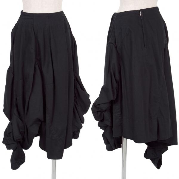 コムデギャルソンCOMME des GARCONS シャーリングスリーブドッキングスカート 黒S【中古】 【レディース】