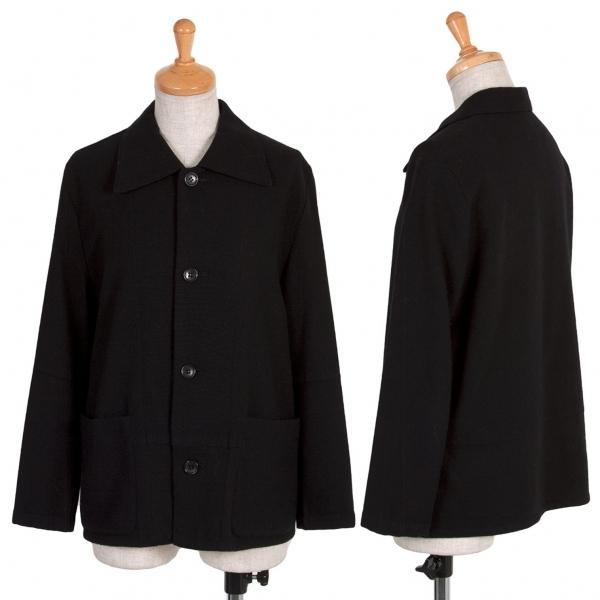 トリコ コムデギャルソンtricot COMME des GARCONS 切替ウールジャケット 黒M位【中古】