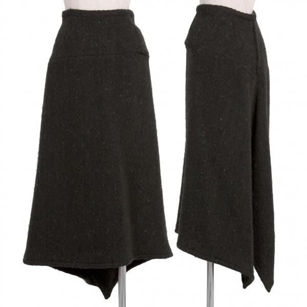 【SALE】ワイズY's ウールニットロングスカート カーキ黒他2【中古】 【レディース】