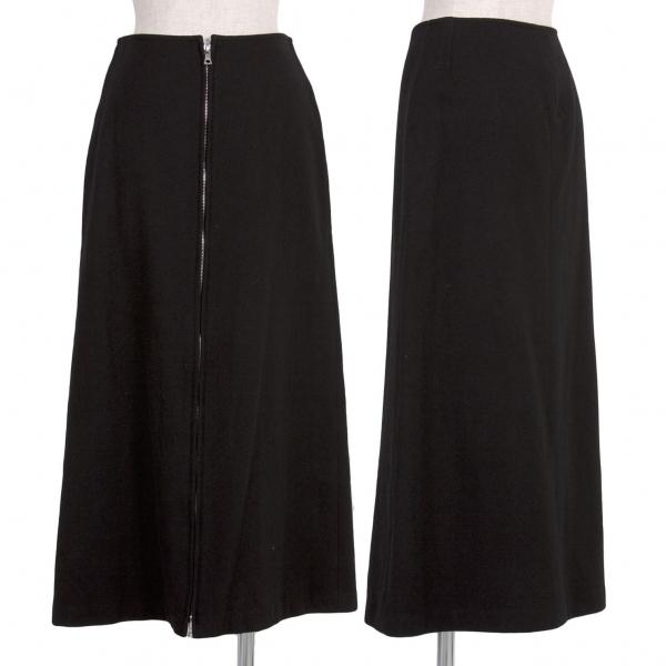 【SALE】ワイズY's ウールフロントririジップスカート 黒2【中古】 【レディース】