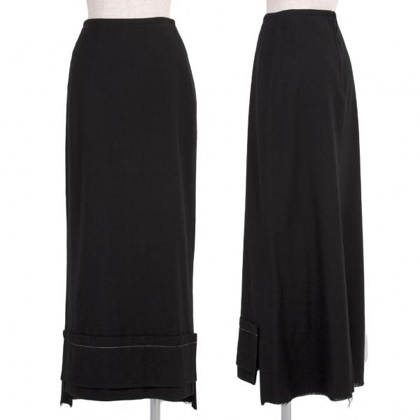 ワイズY's ウールフェルト裾パッチスカート 黒2【中古】 【レディース】