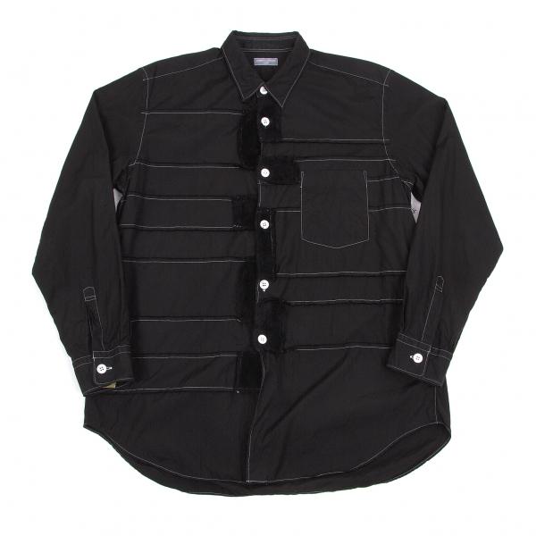 コムデギャルソン オムCOMME des GARCONS HOMME 製品染め切り替えデザインシャツ 黒M位【中古】 【メンズ】