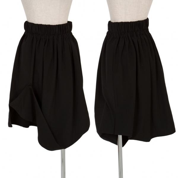 ワークショップWORK SHOP 折り返しデザインスカート 黒M位【中古】 【レディース】