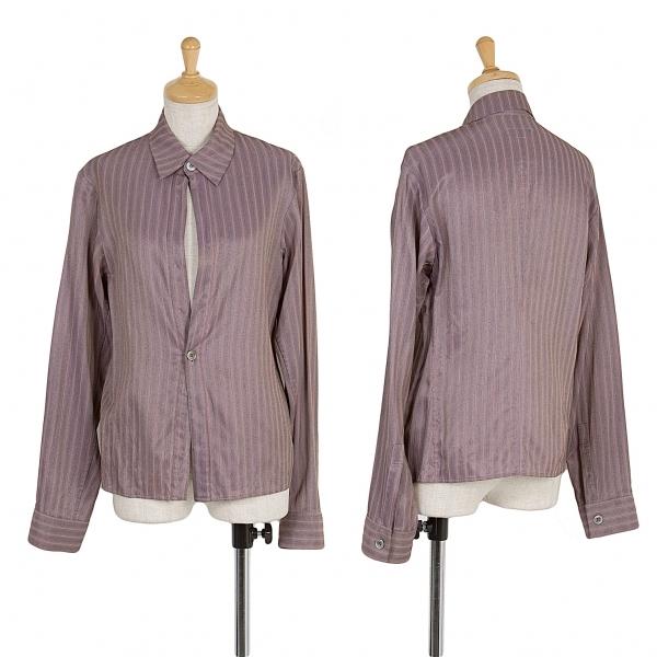 ワイズY's ストライプ2Bシャツ 淡紫黒他M位【中古】 【レディース】