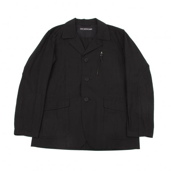 イッセイミヤケ メンISSEY MIYAKE MEN コットンF2ジャケット 黒1【中古】 【メンズ】