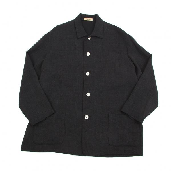 ワイズフォーメンY's for men SHIRTS サマーウールシャツジャケット 墨黒M【中古】 【メンズ】