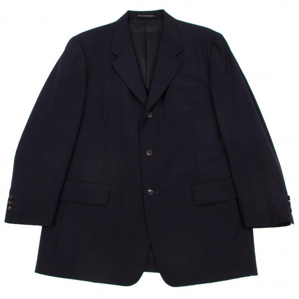 ヨウジヤマモト コスチュームドオムYohji Yamamoto COSTUME D' HOMME ウール3Bジャケット 紺3【中古】