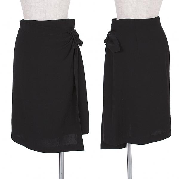 トリココムデギャルソンtricot COMME des GARCONS サイドバックル巻きスカート 黒M【中古】