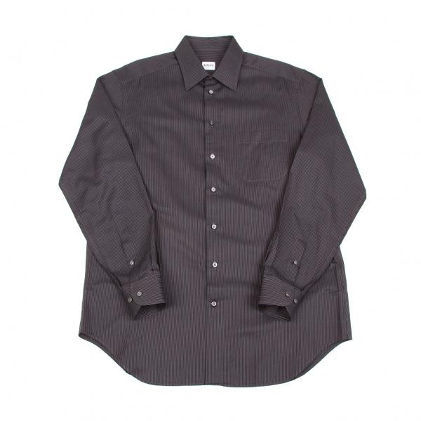 アルマーニコレツィオーニARMANI COLLEZIONI ストライプ織りシャツ チャコール41【中古】 【メンズ】
