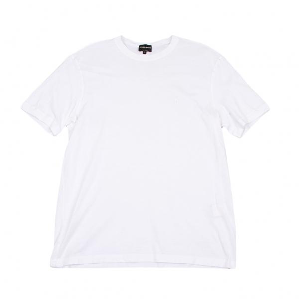 ジョルジオ アルマーニGIORGIO ARMANI ロゴワンポイント刺繍Tシャツ オフ54【中古】