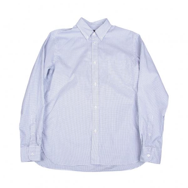 コムデギャルソンオムCOMME des GARCONS HOMME グラフチェックボタンダウンシャツ 白紺M【中古】