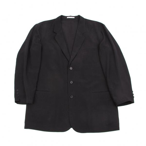 パパスPapas シルクテーラードジャケット 黒L【中古】 【メンズ】