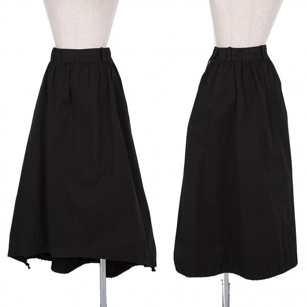ワイズY's コットンツイルワイドデザインスカート 黒3【中古】