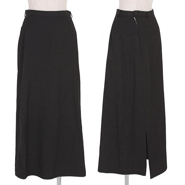 ワイズY's ウールナイロン切替スカート 黒M【中古】