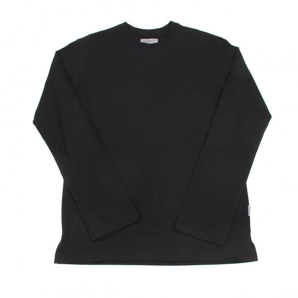 ヨウジヤマモトプールオムYohji Yamamoto POUR HOMME サイドタグ長袖Tシャツ 黒4【中古】