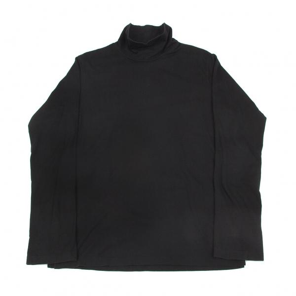 ヨウジヤマモトプールオムYohji Yamamoto POUR HOMME サイドタグハイネック長袖Tシャツ 黒4【中古】