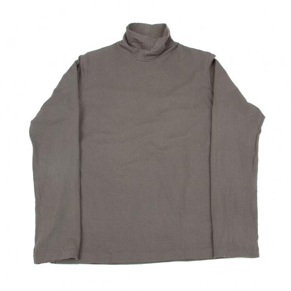ヨウジヤマモトプールオムYohji Yamamoto POUR HOMME サイドタグハイネック長袖Tシャツ グレー4【中古】