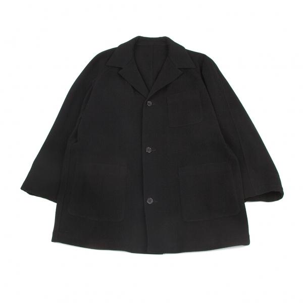 ワイズフォーメンY's for men メルトンウールパッチポケットハーフコート 黒M位【中古】
