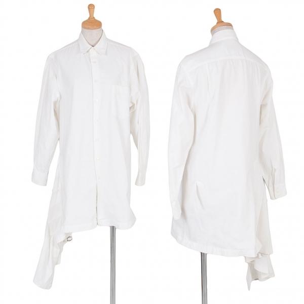 トリココムデギャルソンtricot COMME des GARCONS プリーツスカート切替変形シャツ 生成りM位【中古】