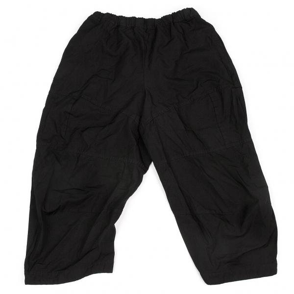 コムコム コムデギャルソンCOMME des GARCONS ポリ製品染め切替パンツ 黒S【中古】