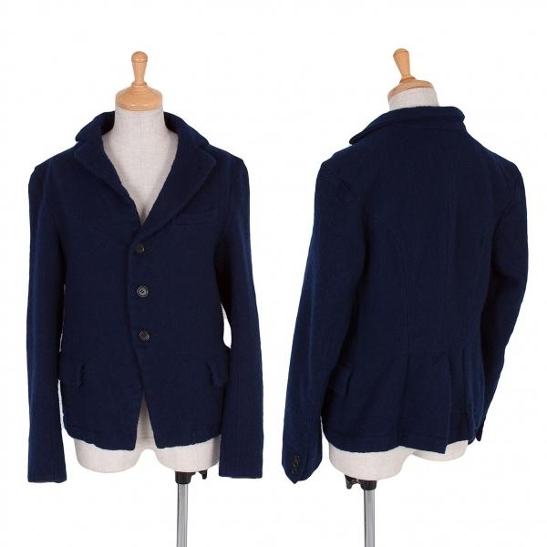 コムコム コムデギャルソンCOMME des GARCONS 製品染めウールジャケット 紺M【中古】