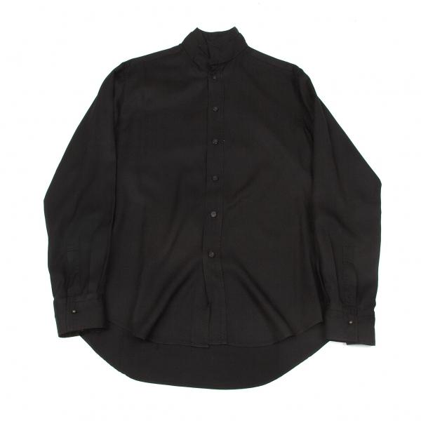 ワイズフォーメンY's for men レーヨン二重襟デザインシャツ 黒2【中古】