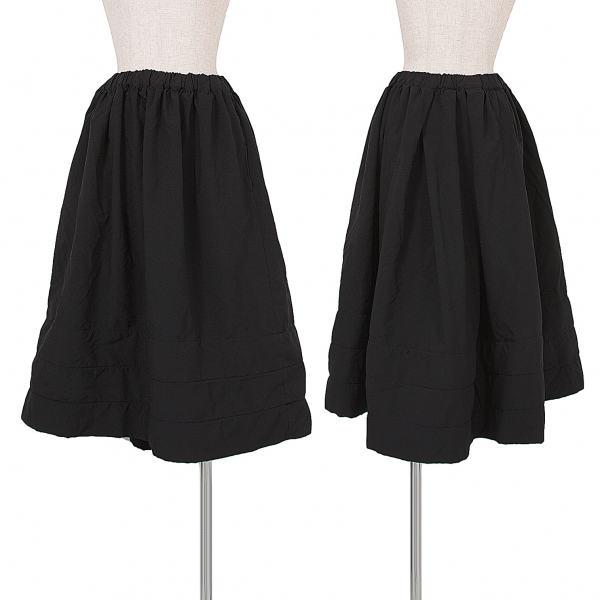 コムデギャルソンCOMME des GARCONS ポリ製品染め中綿スカート 黒S【中古】