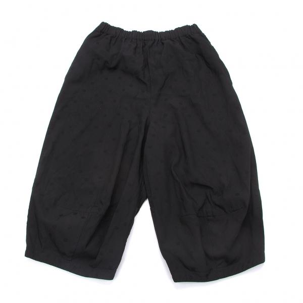 コムコム コムデギャルソンCOMME des GARCONS ポリ製品染めドット柄切替パンツ 黒XS【中古】