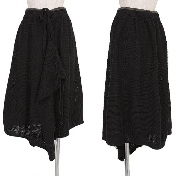 新品!ワイズY's アシンメトリーニットスカート 黒モカ2